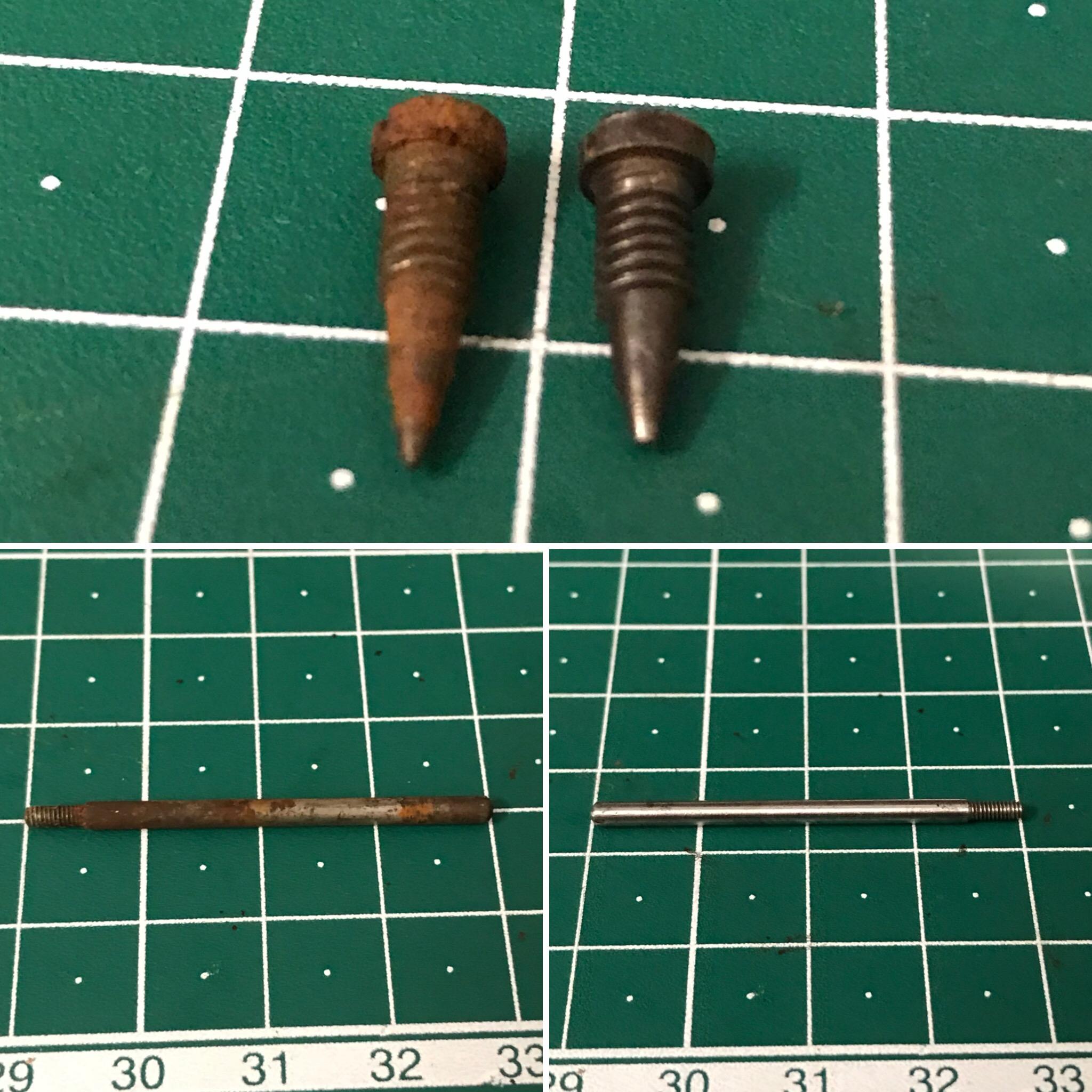 Pulido de tornillos y ejes